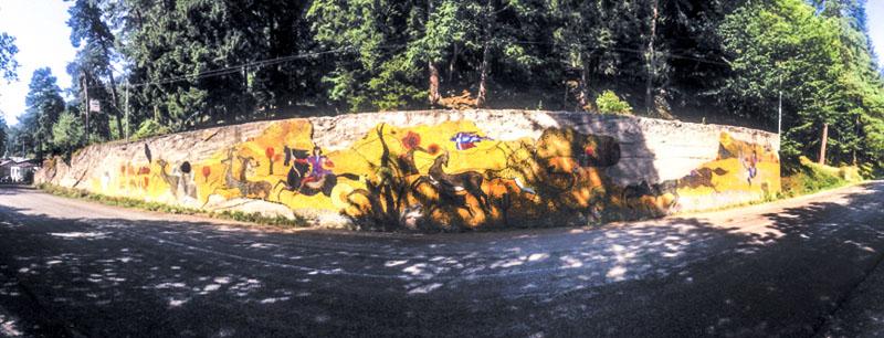 دیوار تزئینی، آباستمانی؛ ساورگماگ قمباشیده، دهه ۱۹۷۰. عکس از تی.گورجینادزه