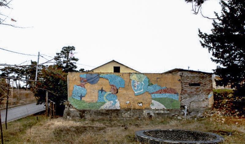 دیوار تزئینی، تفلیس؛ هنرمند ناشناخته، دهه ۱۹۸۰. عکس از جی. بیکایدزه.